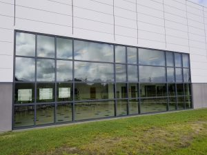 school-exterior-windows-before-3M Low-E-film-installation